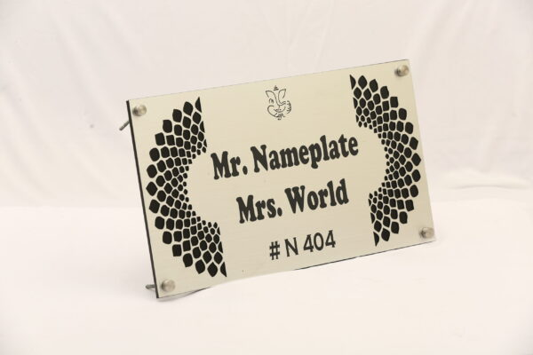 Steel Finish Nameplate