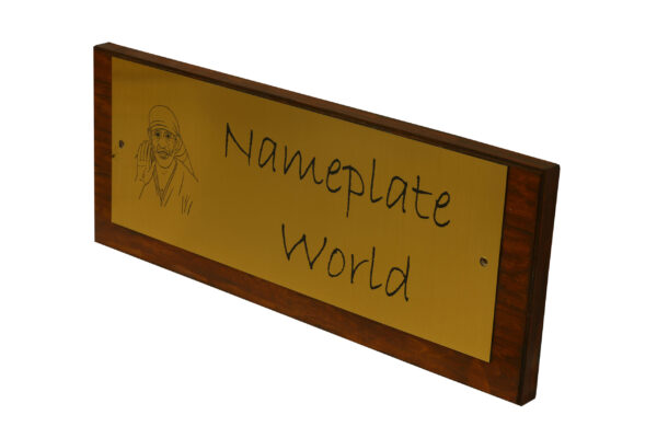 Wooden Nameplate
