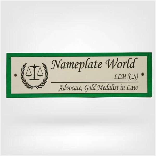 Lawyer Nameplate