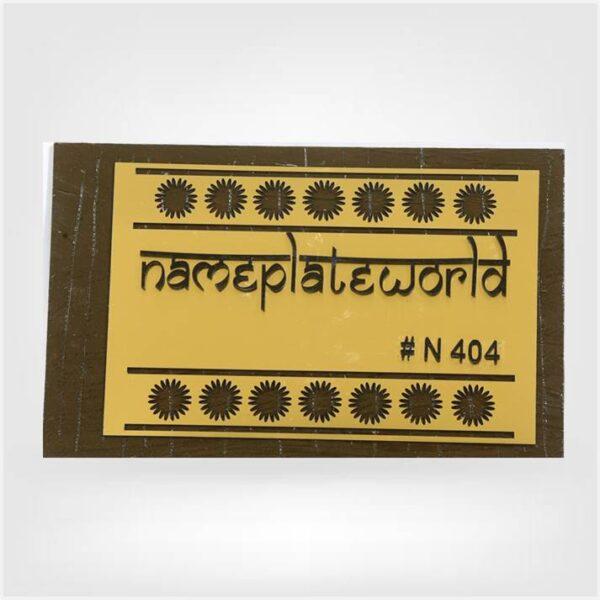 Handmade Nameplate