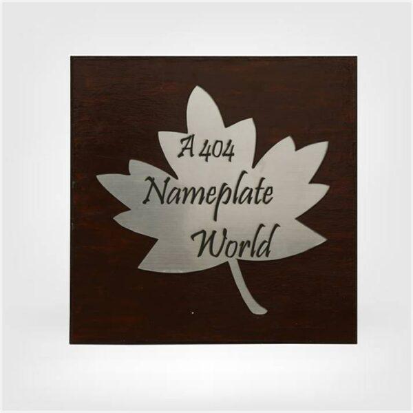Mapple Leaf Nameplate