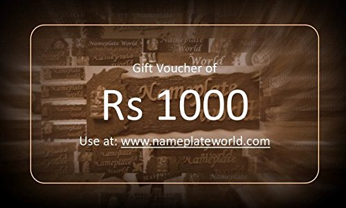 Gift Voucher NameplateWorld