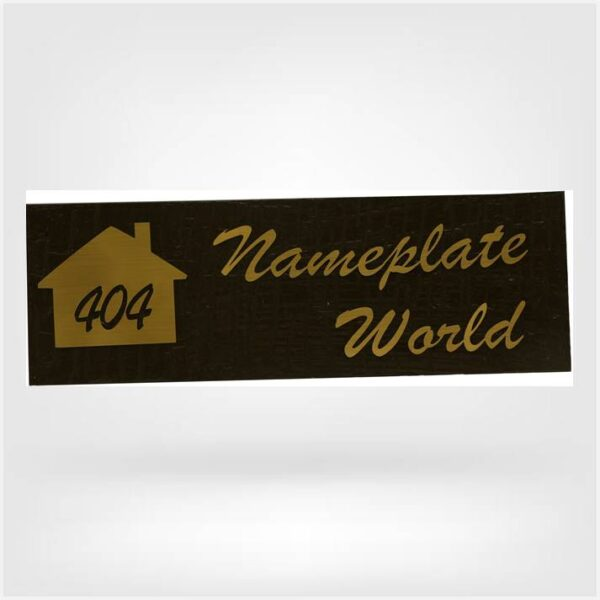 Nameplate with flat no
