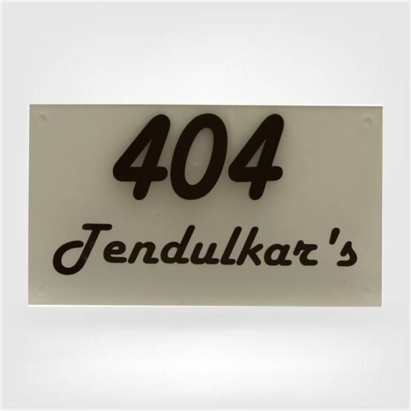 Nameplate with FL No
